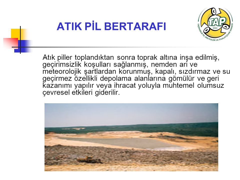 ATIK PİL BERTARAFI