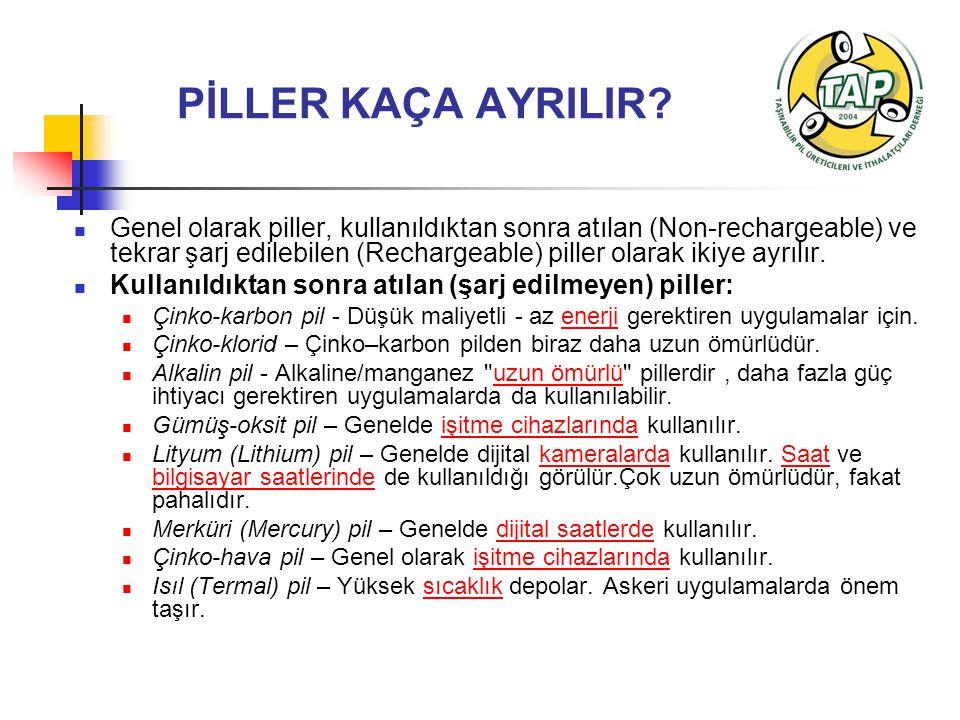 PİLLER KAÇA AYRILIR