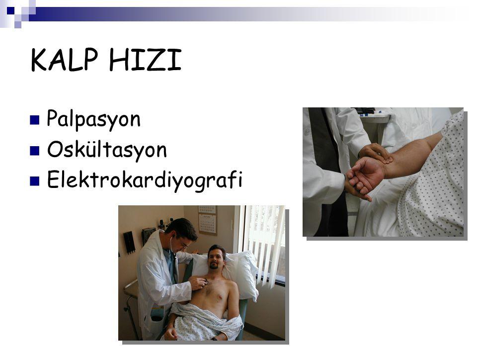 KALP HIZI Palpasyon Oskültasyon Elektrokardiyografi