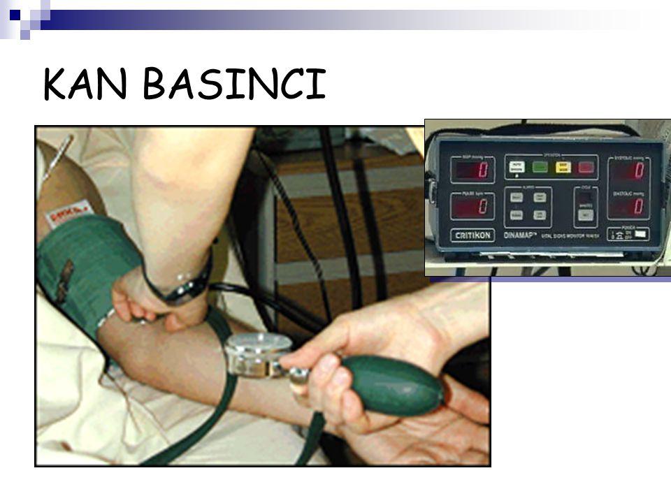 KAN BASINCI Açık kalp cerrahisinde noninvaziv kan basıncı ölçümü yeterli değildir.