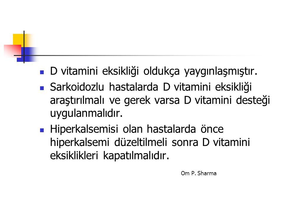 D vitamini eksikliği oldukça yaygınlaşmıştır.