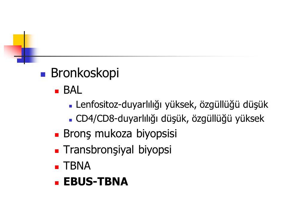 Bronkoskopi BAL Bronş mukoza biyopsisi Transbronşiyal biyopsi TBNA