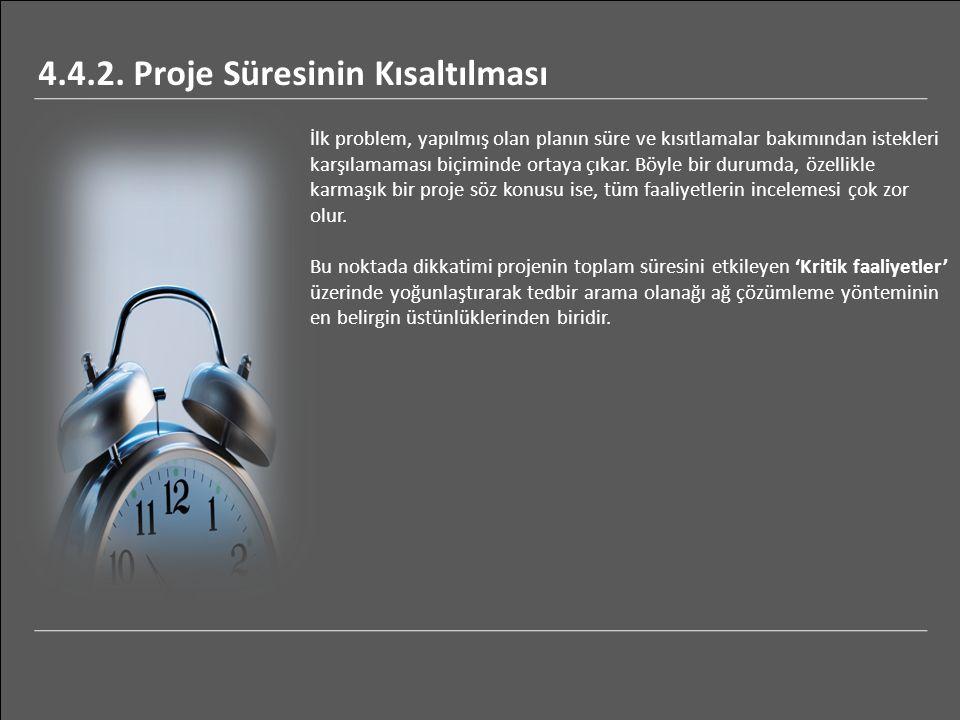 4.4.2. Proje Süresinin Kısaltılması