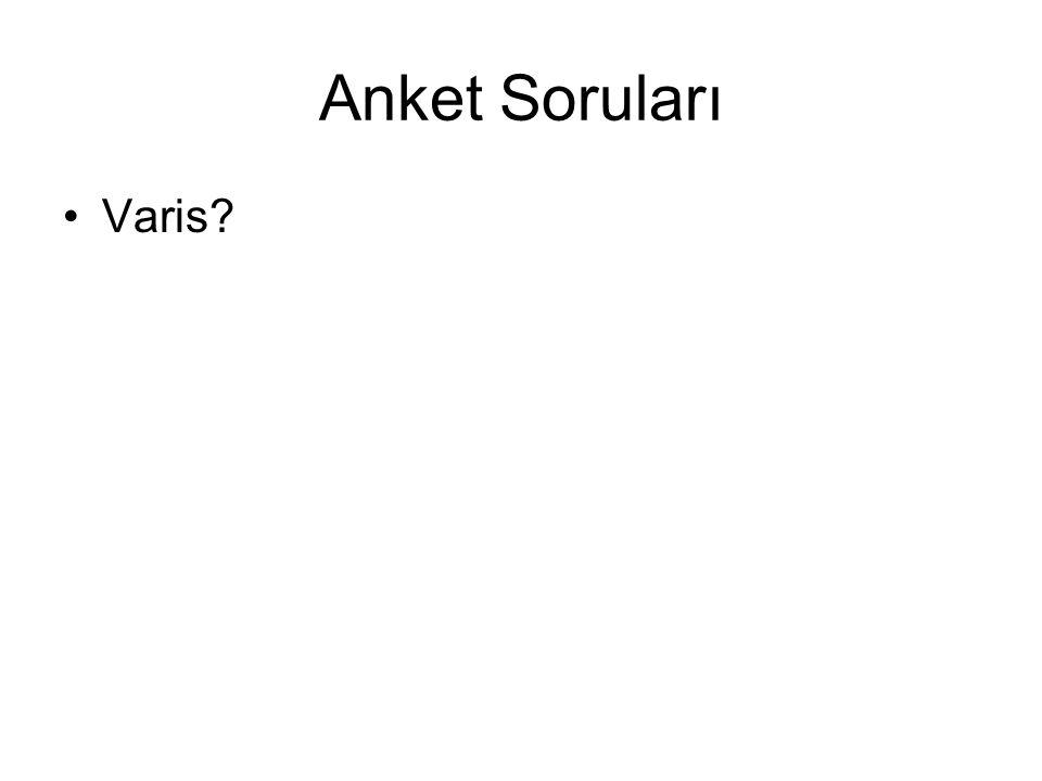 Anket Soruları Varis