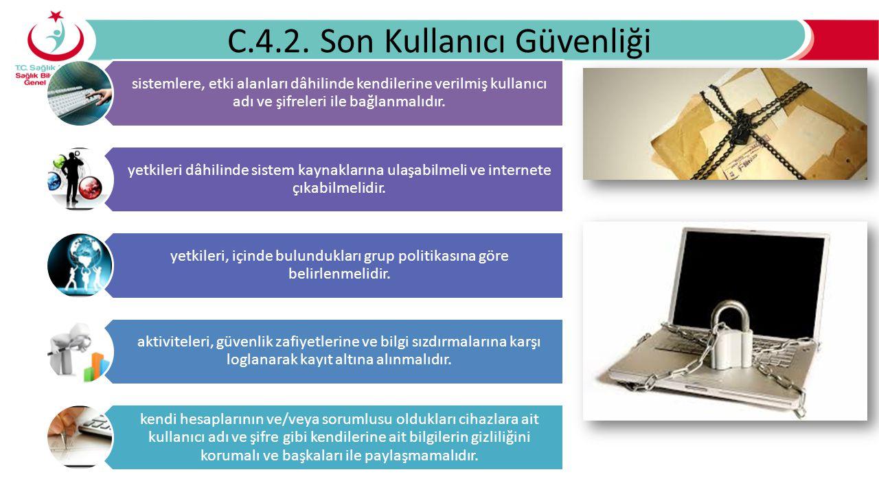C.4.2. Son Kullanıcı Güvenliği