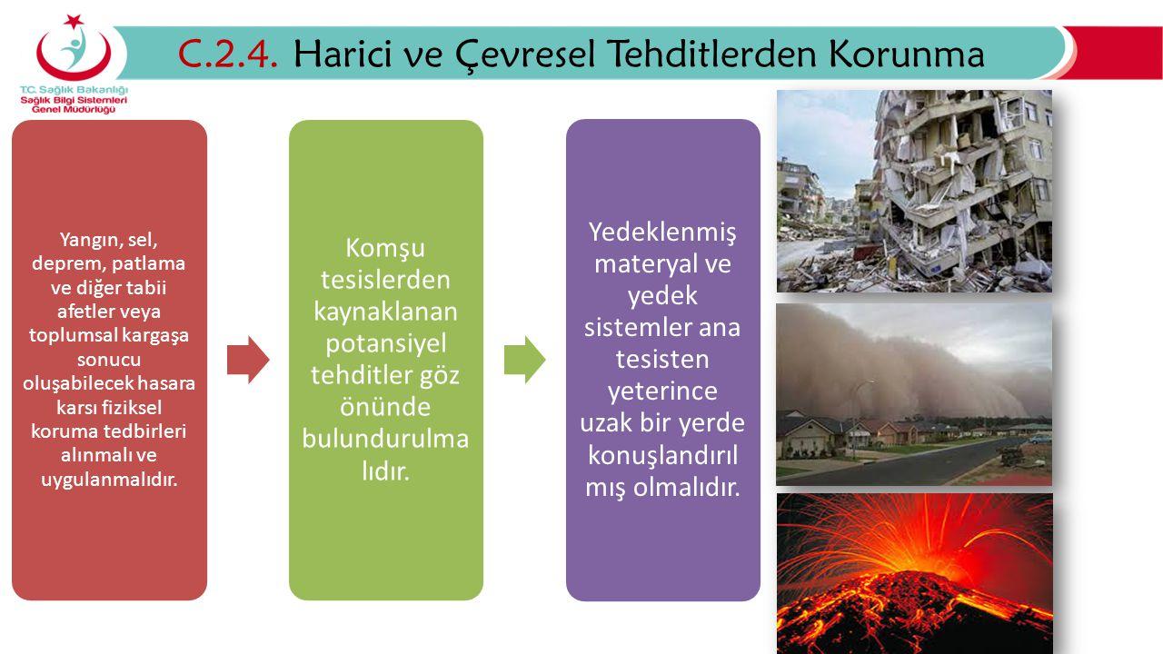 C.2.4. Harici ve Çevresel Tehditlerden Korunma