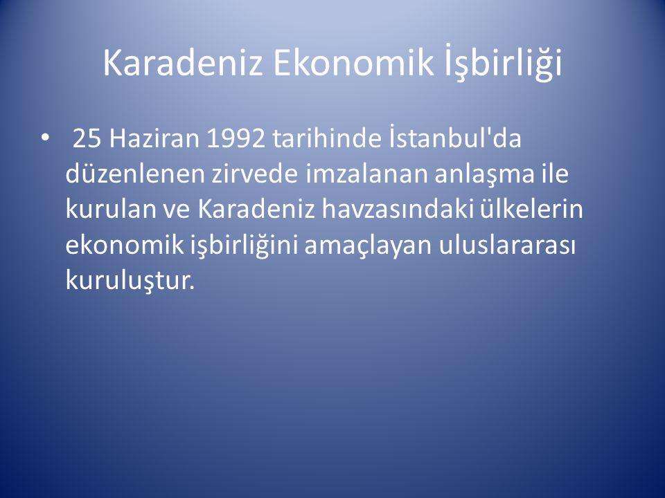 Karadeniz Ekonomik İşbirliği