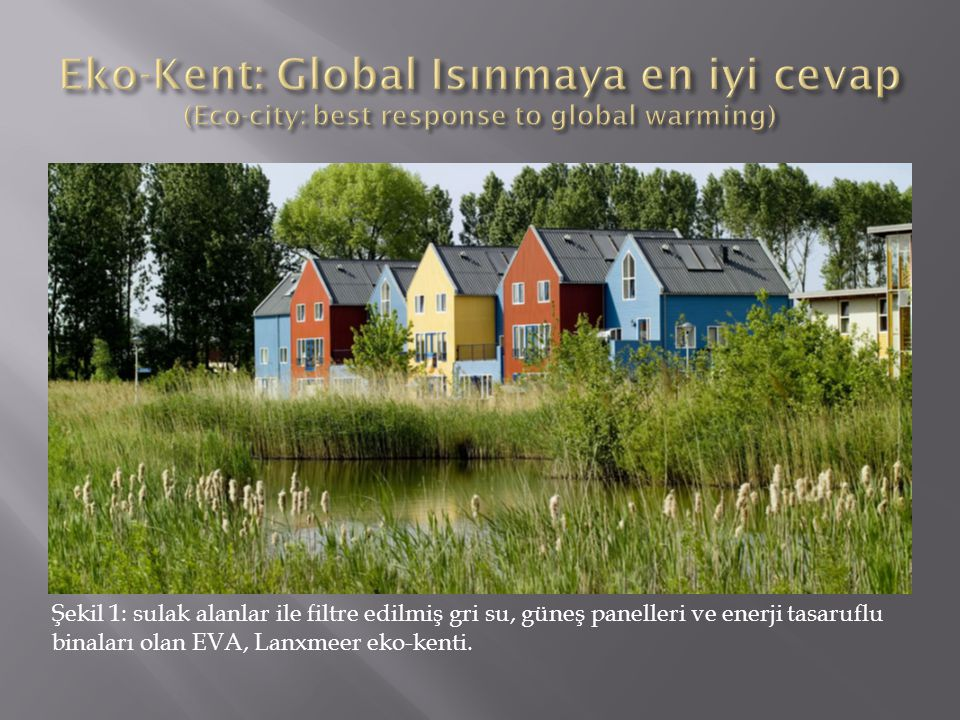 Eko-Kent: Global Isınmaya en iyi cevap (Eco-city: best response to global warming)
