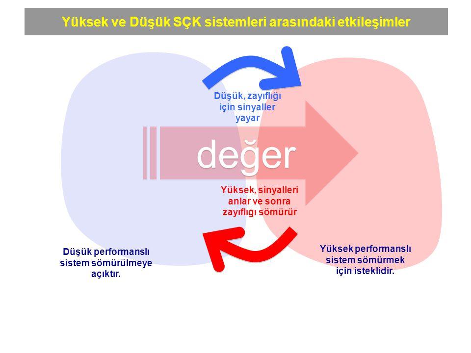 değer Yüksek ve Düşük SÇK sistemleri arasındaki etkileşimler