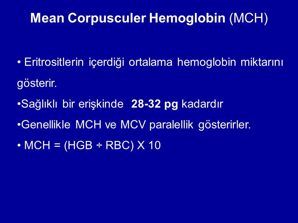 Mean Corpusculer Hemoglobin (MCH)