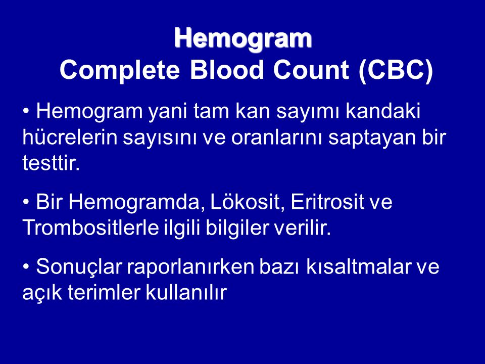 Hemogram Complete Blood Count (CBC)