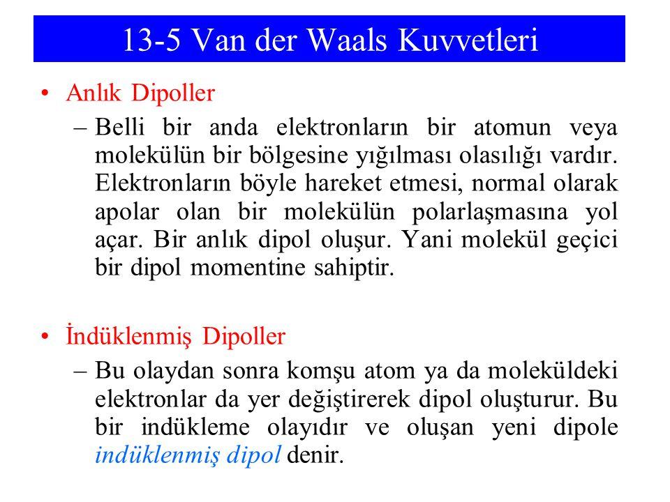 13-5 Van der Waals Kuvvetleri