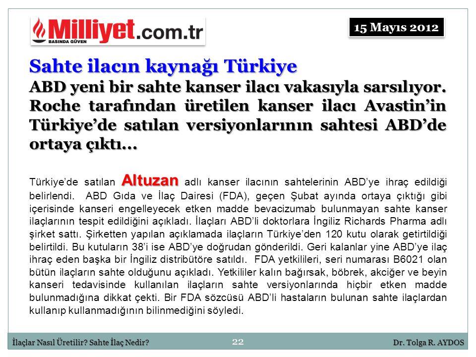 Sahte ilacın kaynağı Türkiye