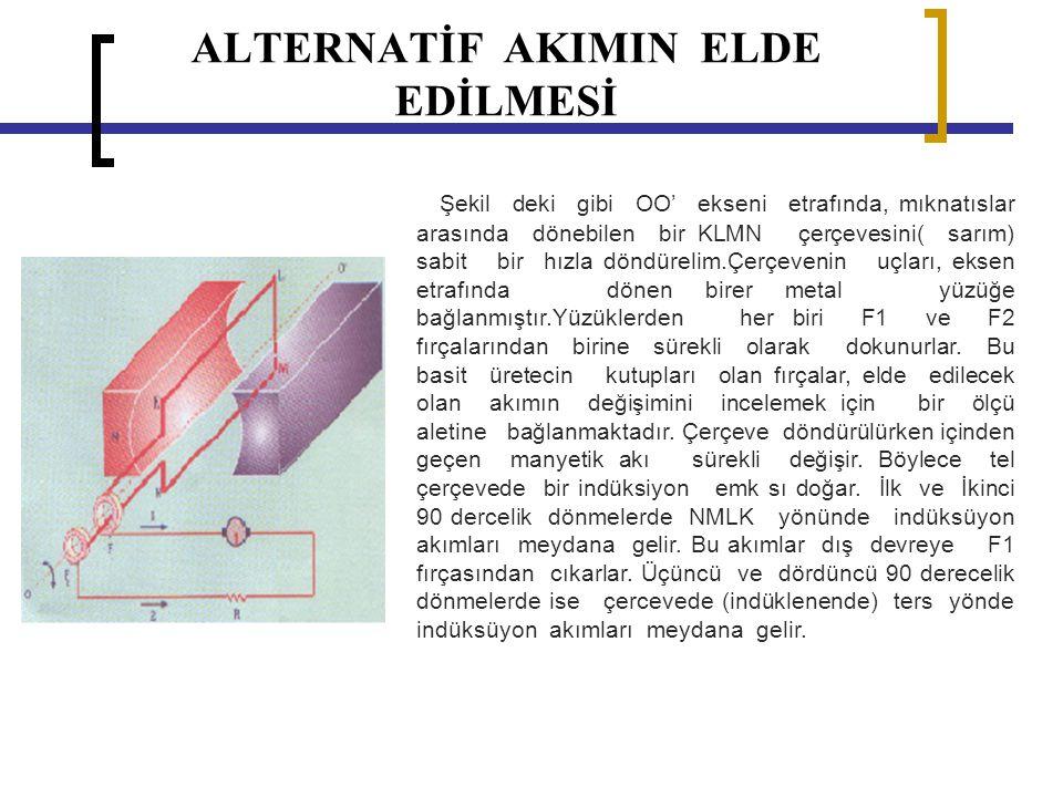 ALTERNATİF AKIMIN ELDE EDİLMESİ