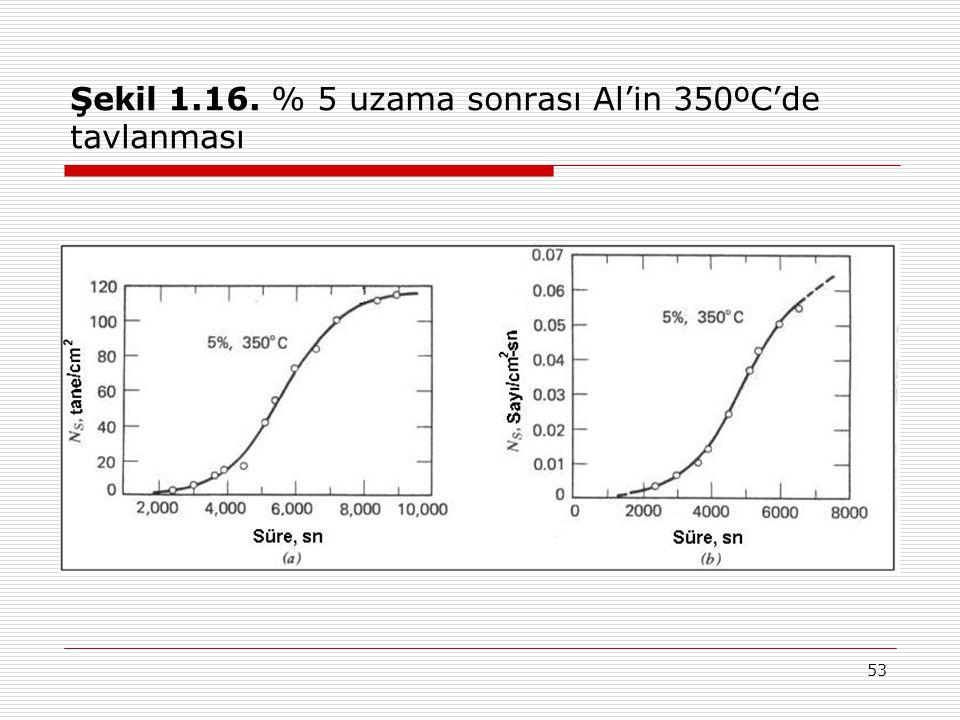 Şekil 1.16. % 5 uzama sonrası Al'in 350ºC'de tavlanması