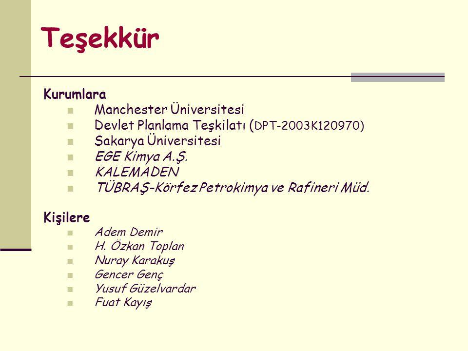 Teşekkür Kurumlara Manchester Üniversitesi