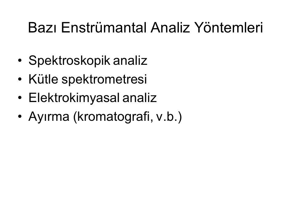 Bazı Enstrümantal Analiz Yöntemleri