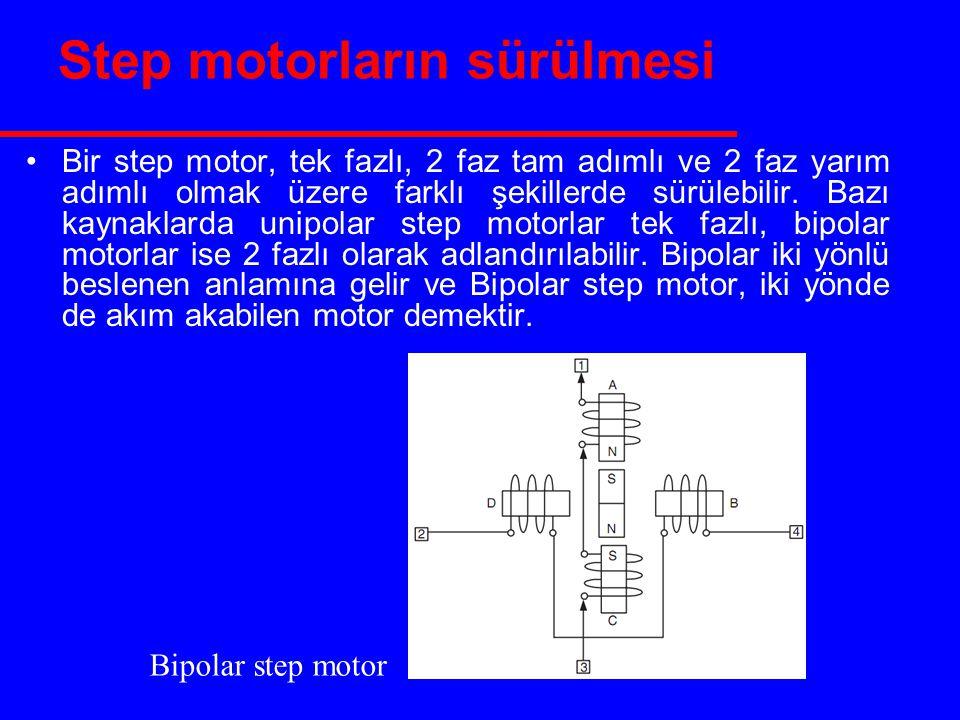 Step motorların sürülmesi