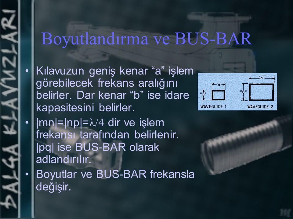 Boyutlandırma ve BUS-BAR