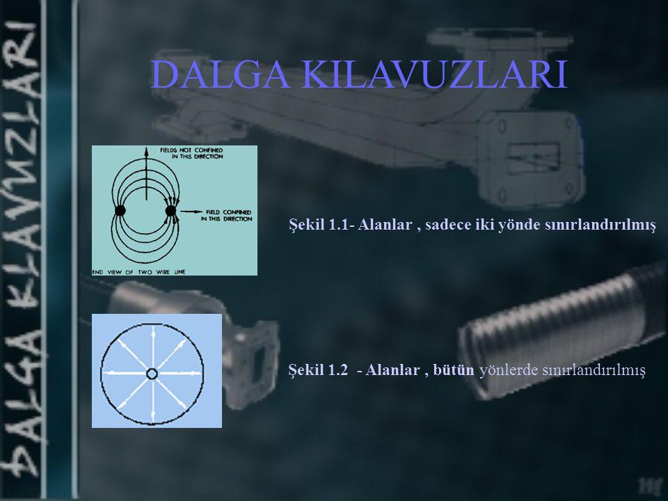 DALGA KILAVUZLARI Şekil 1.1- Alanlar , sadece iki yönde sınırlandırılmış.