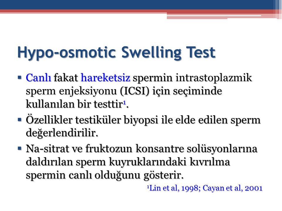 Hypo-osmotic Swelling Test