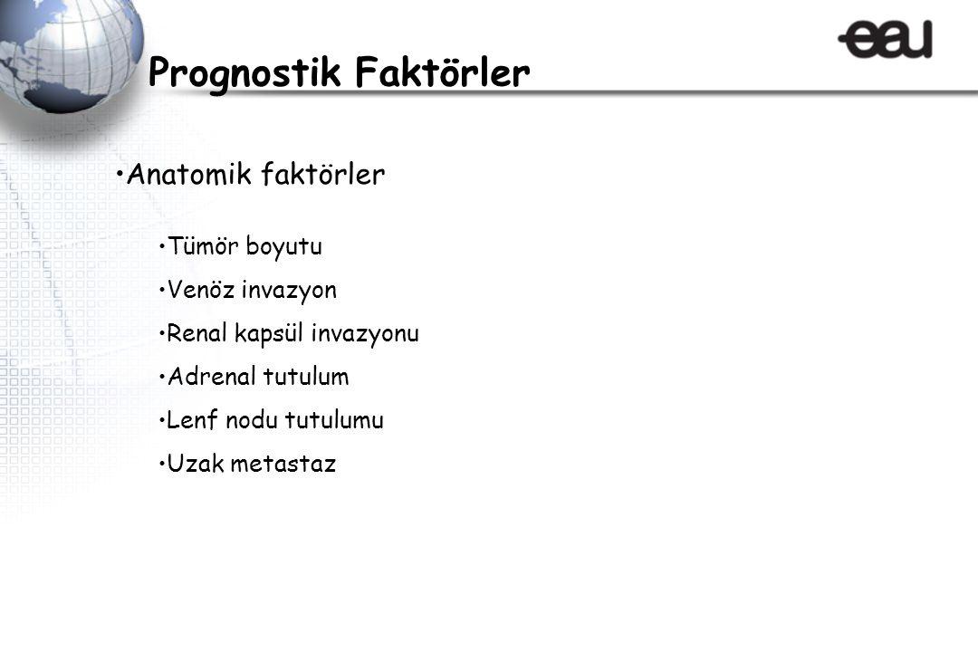 Prognostik Faktörler Anatomik faktörler Tümör boyutu Venöz invazyon