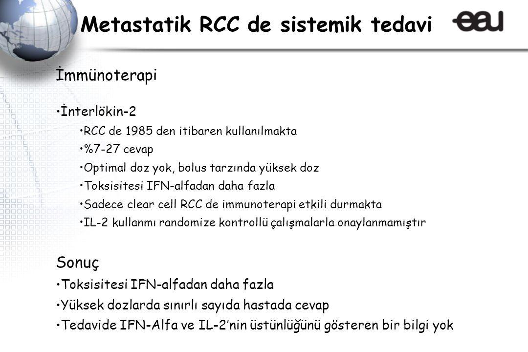 Metastatik RCC de sistemik tedavi
