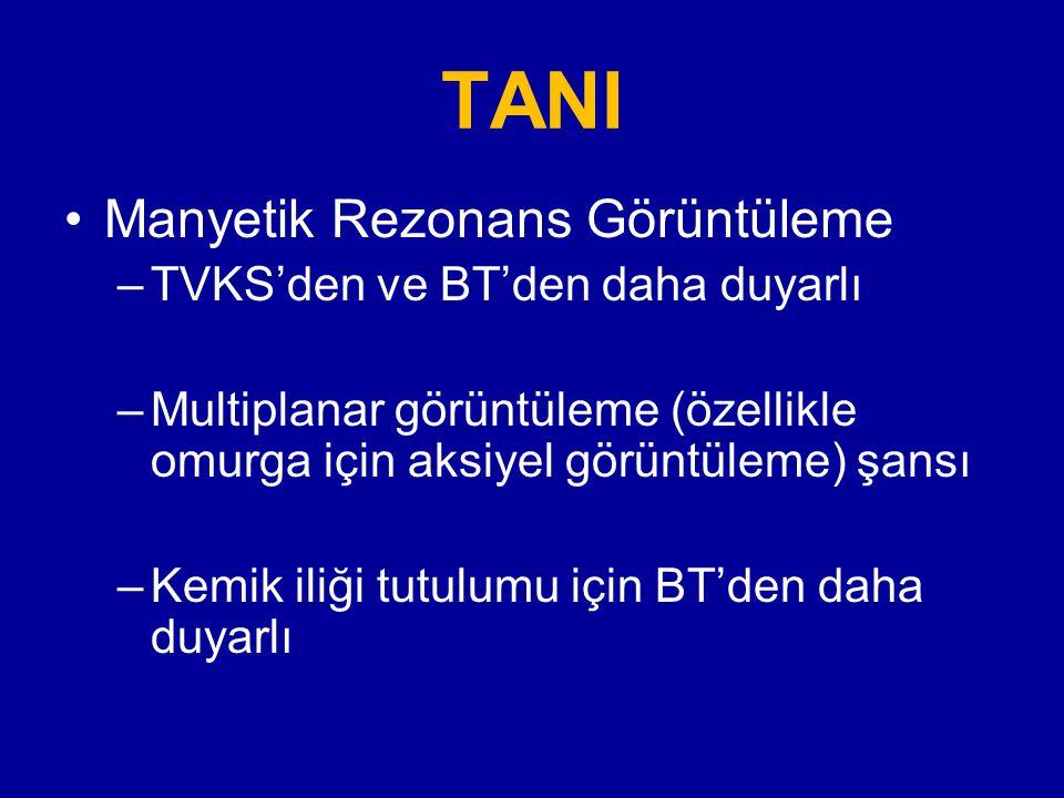 TANI Manyetik Rezonans Görüntüleme TVKS'den ve BT'den daha duyarlı