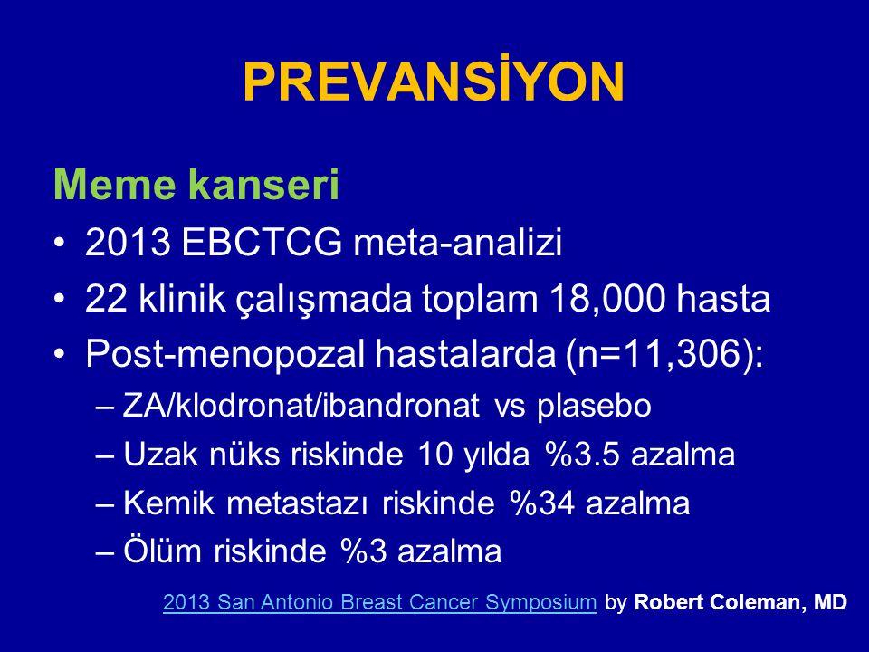 PREVANSİYON Meme kanseri 2013 EBCTCG meta-analizi