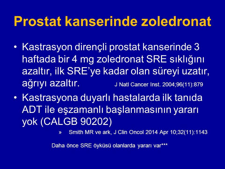 Prostat kanserinde zoledronat