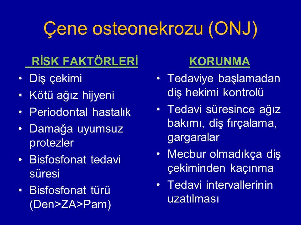 Çene osteonekrozu (ONJ)