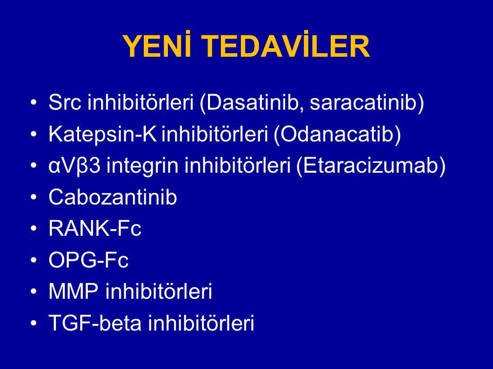 YENİ TEDAVİLER Src inhibitörleri (Dasatinib, saracatinib)