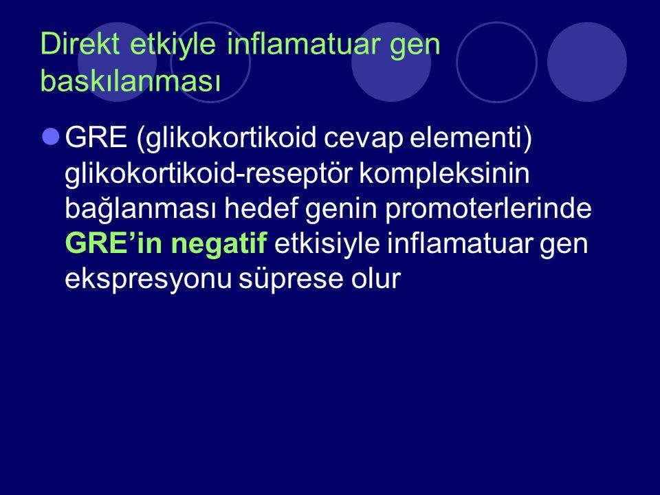 Direkt etkiyle inflamatuar gen baskılanması