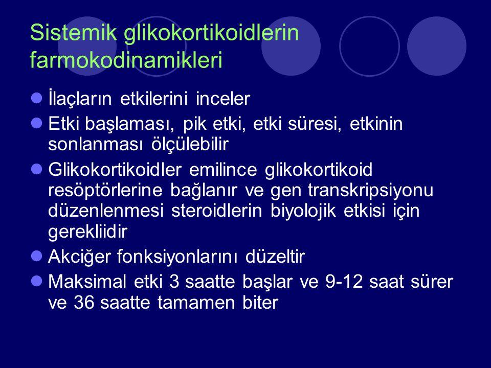 Sistemik glikokortikoidlerin farmokodinamikleri