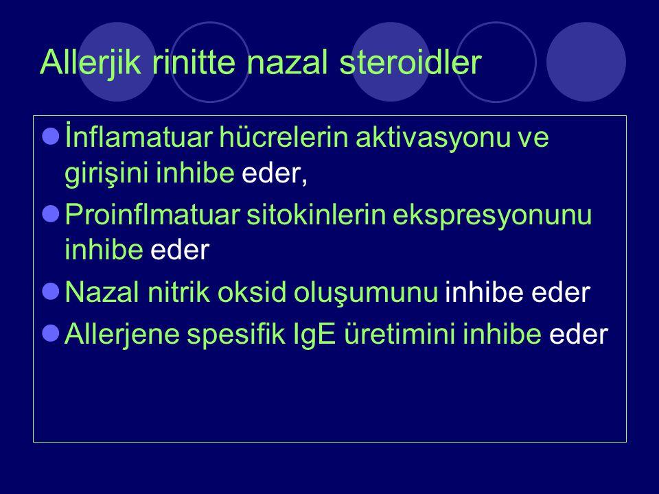 Allerjik rinitte nazal steroidler