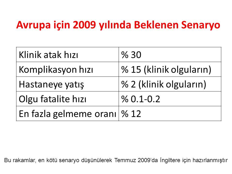 Avrupa için 2009 yılında Beklenen Senaryo