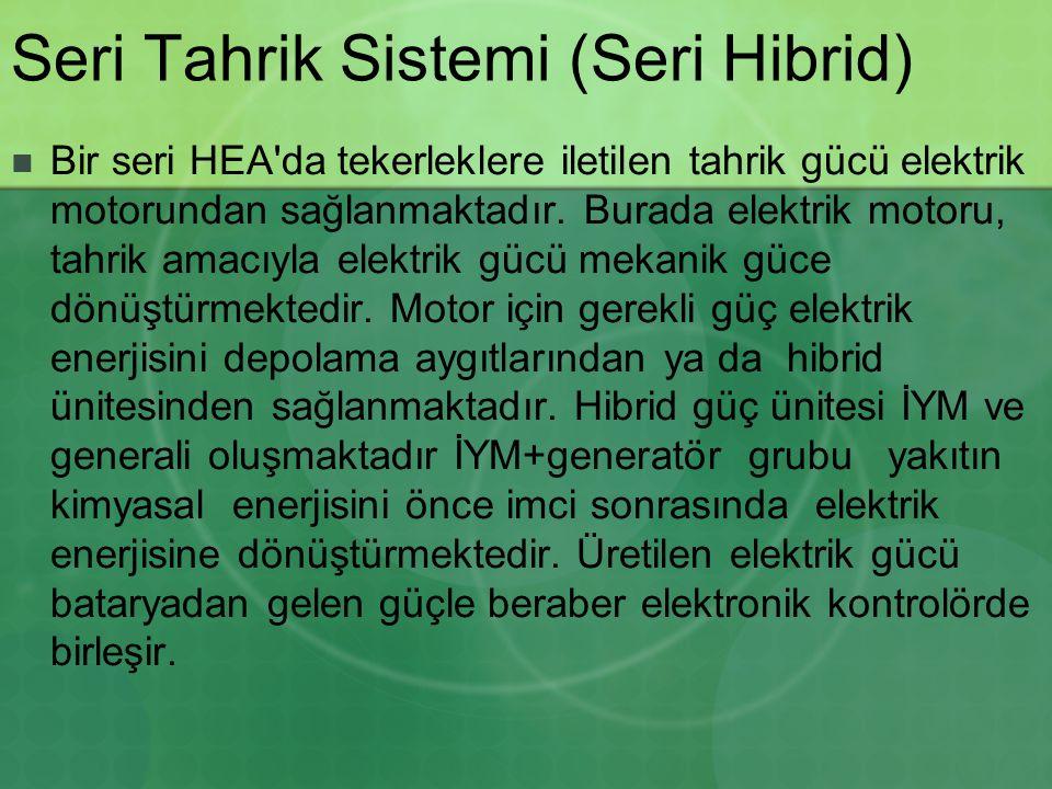 Seri Tahrik Sistemi (Seri Hibrid)