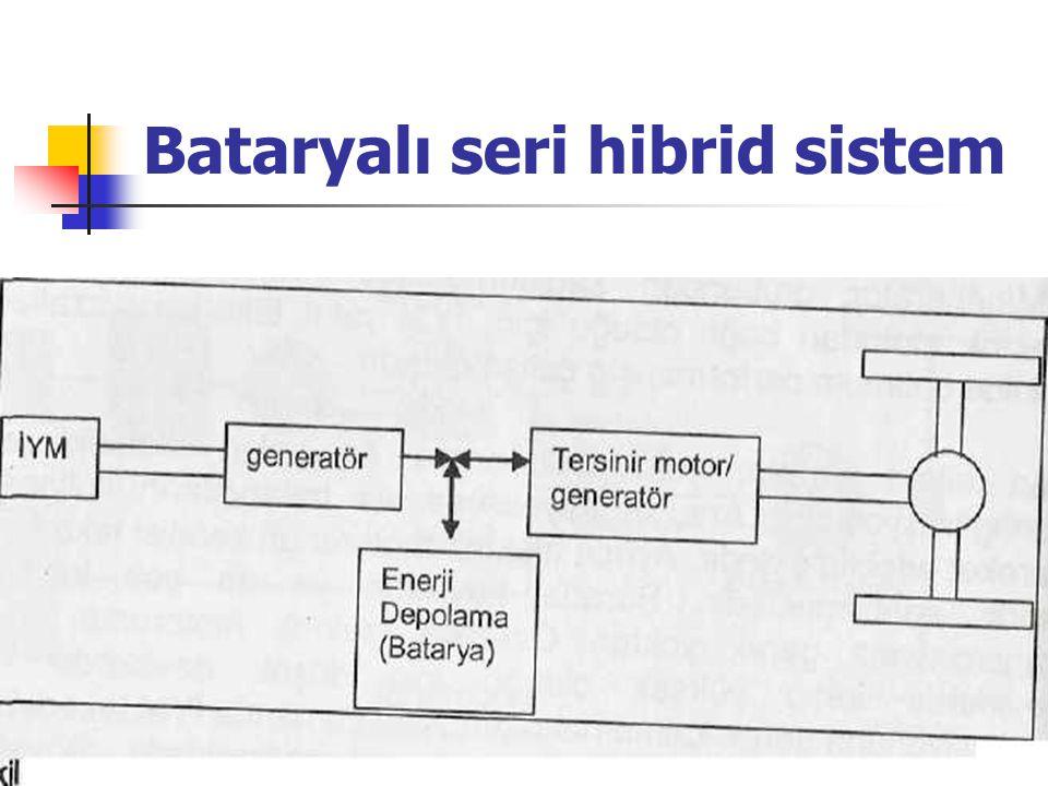 Bataryalı seri hibrid sistem