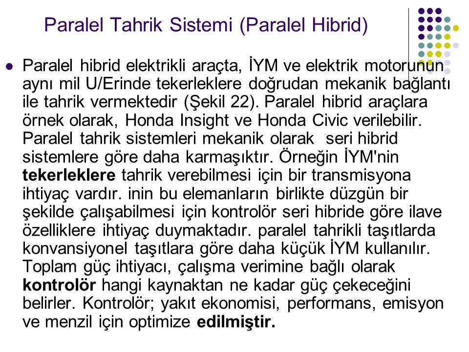 Paralel Tahrik Sistemi (Paralel Hibrid)