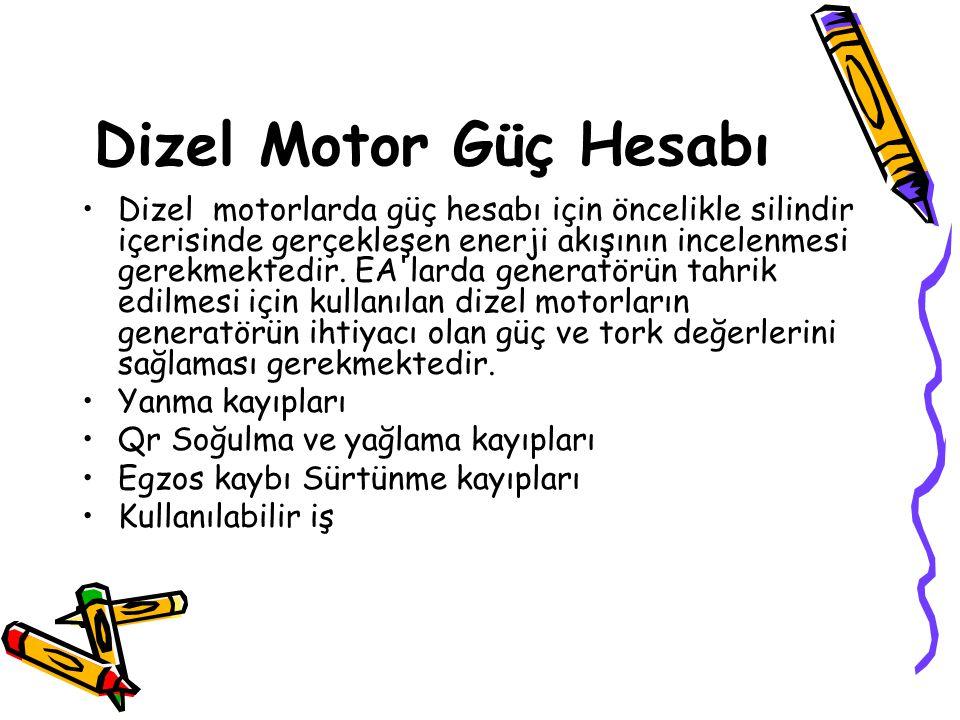 Dizel Motor Güç Hesabı