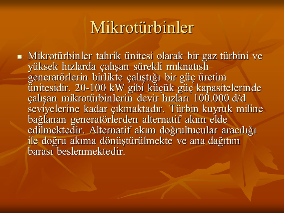Mikrotürbinler