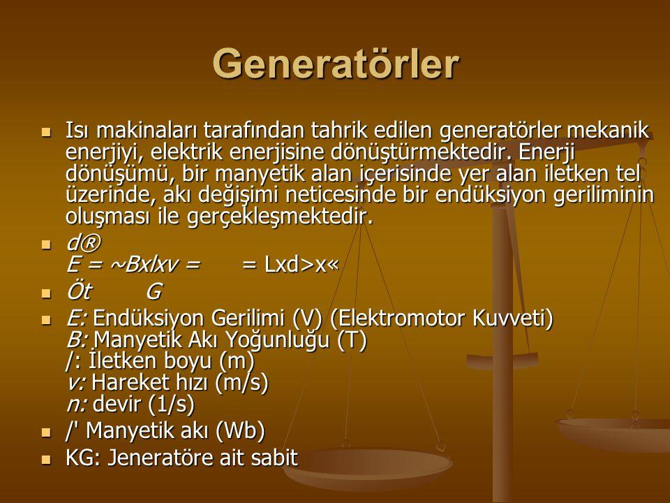 Generatörler