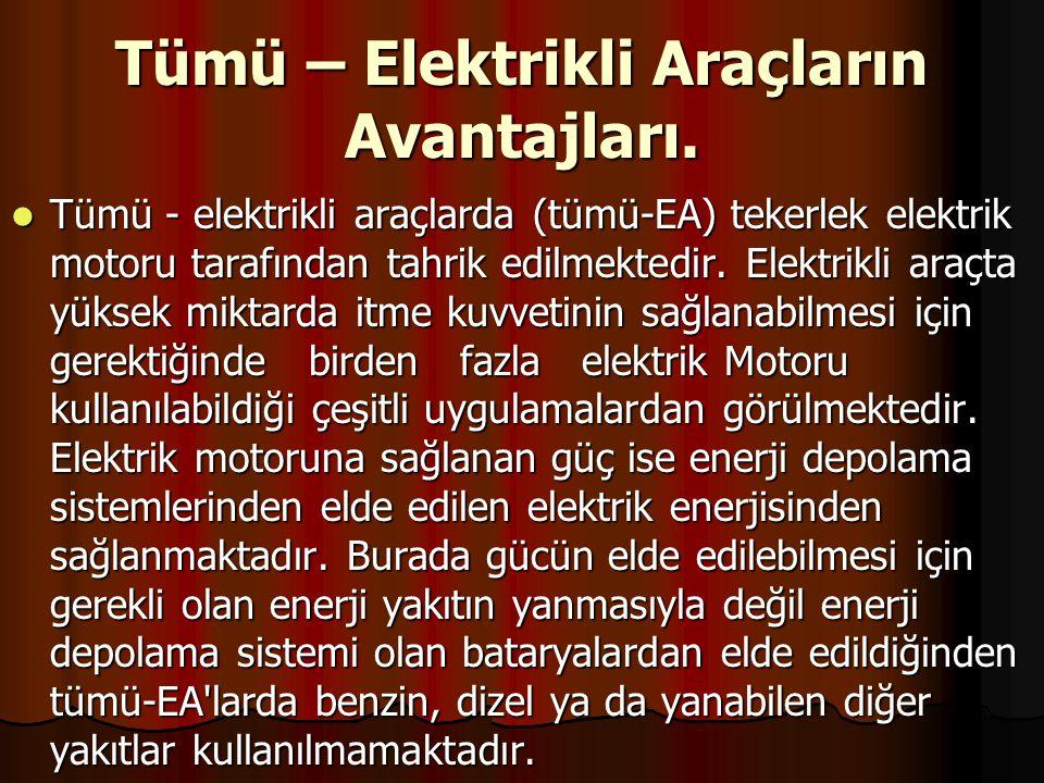 Tümü – Elektrikli Araçların Avantajları.