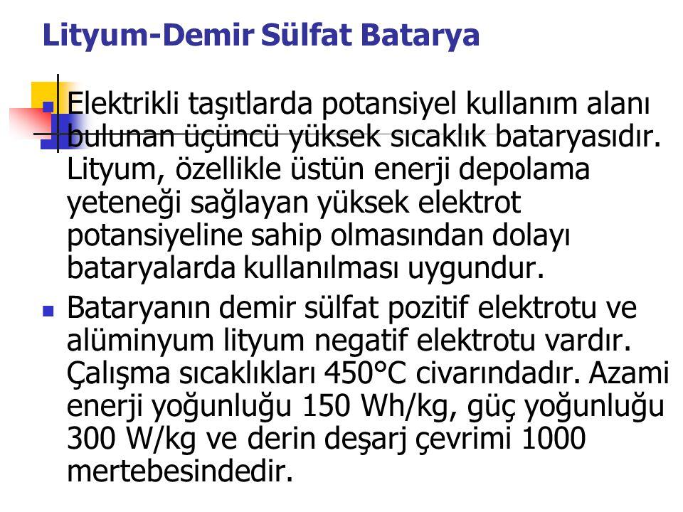 Lityum-Demir Sülfat Batarya