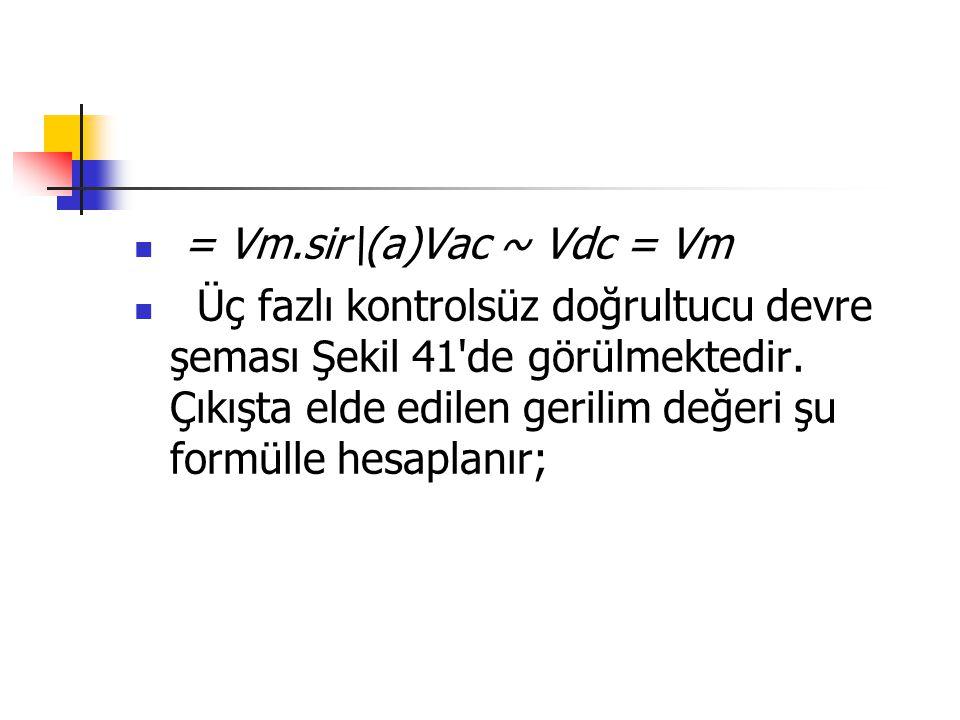 = Vm.sir\(a)Vac ~ Vdc = Vm