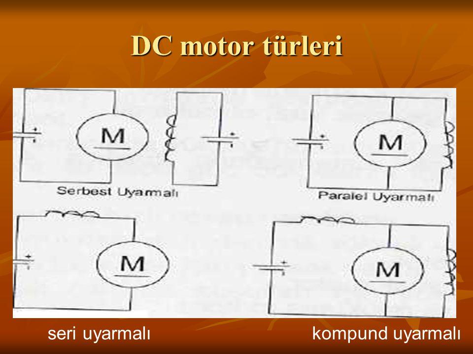 DC motor türleri seri uyarmalı kompund uyarmalı