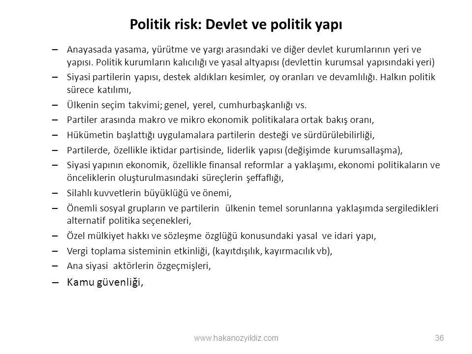 Politik risk: Devlet ve politik yapı