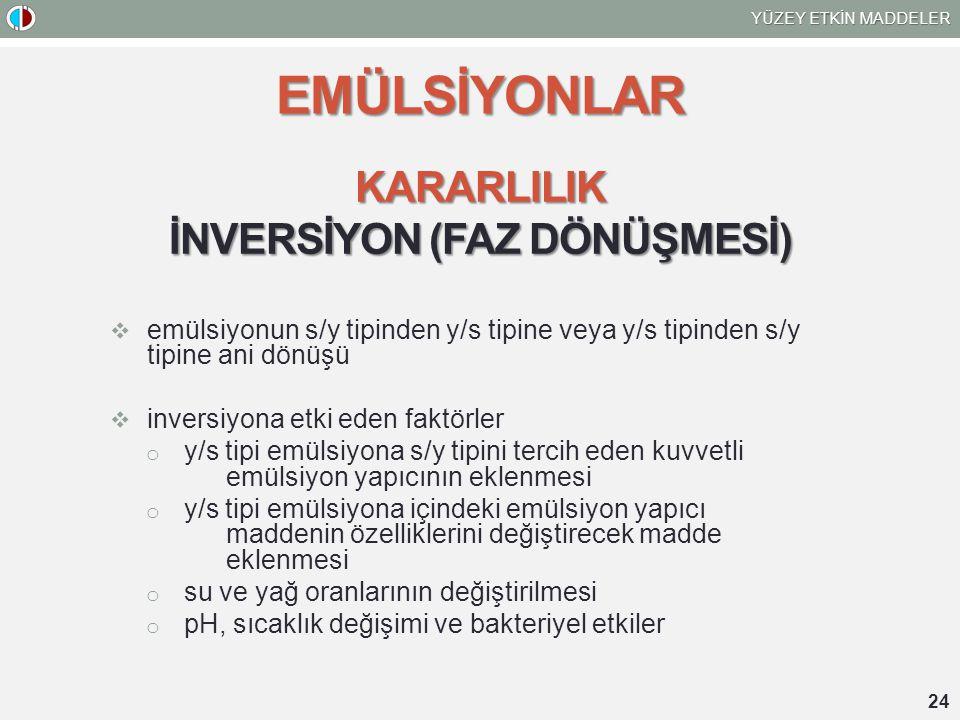 İNVERSİYON (FAZ DÖNÜŞMESİ)