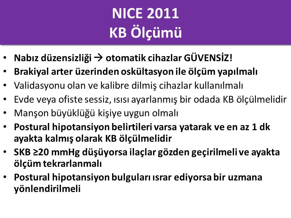 NICE 2011 KB Ölçümü Nabız düzensizliği  otomatik cihazlar GÜVENSİZ!