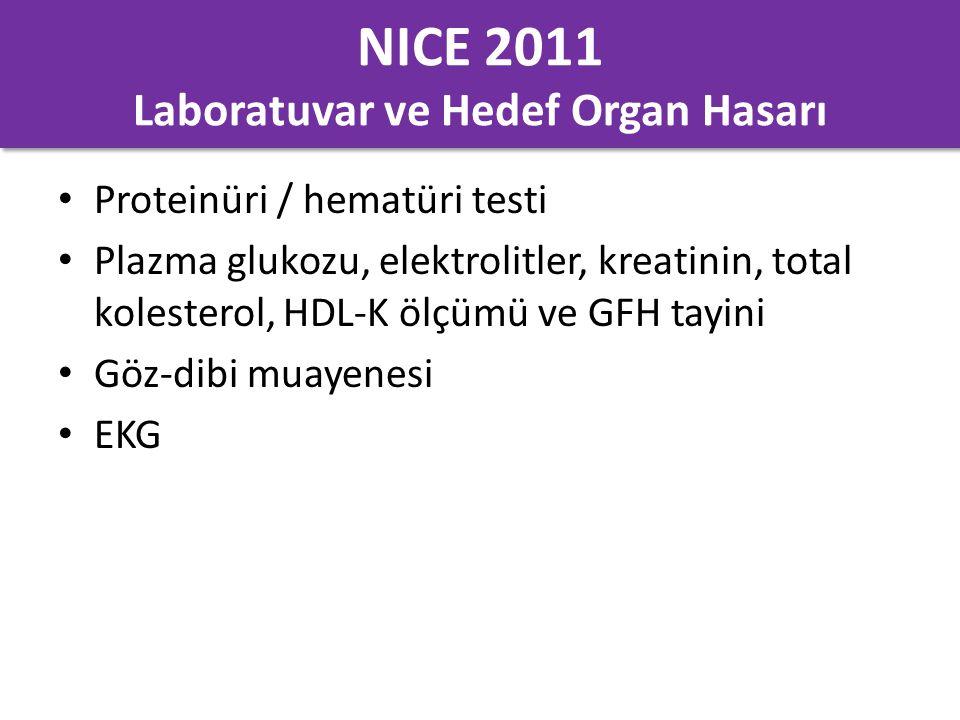 NICE 2011 Laboratuvar ve Hedef Organ Hasarı